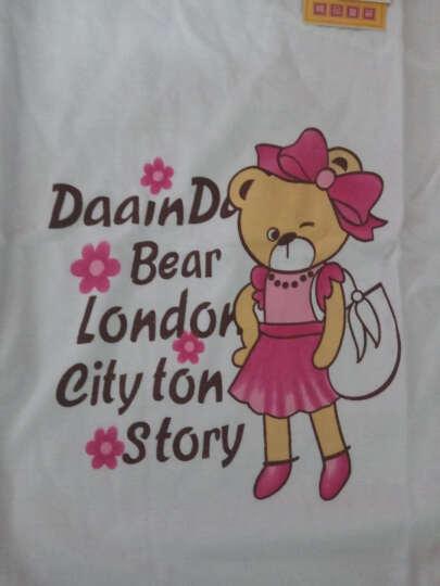 朵琪宝贝 女童t恤长袖2018春装新款女孩中大童卡通打底衫纯棉儿童上衣1309 熊猫黄色 110CM 晒单图