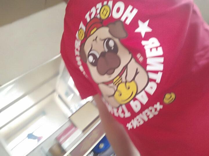 第七公社 本命年红色男士短袖T恤春夏2019新款宽松个性半袖潮体恤 麻灰色 男170 晒单图