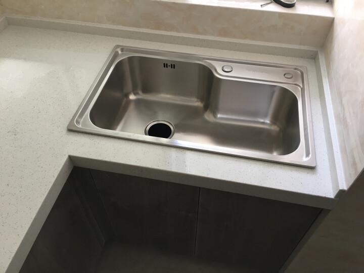 华帝(VATTI) 【不锈钢单槽仅498】华帝卫浴水槽单槽304不锈钢厨房洗菜洗菜池 带刀架双槽仅538送角阀一对 晒单图