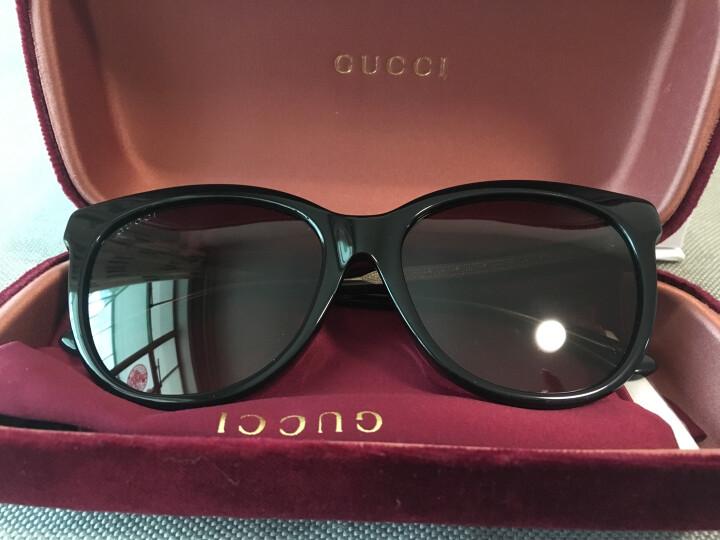 GUCCI 古驰 eyewear 男女太阳镜 中性款时尚潘托斯全框型墨镜 GG0081SK-001 黑色镜框渐变灰镜片 56mm 晒单图