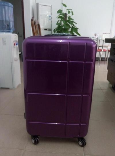 POLO拉杆箱万向轮行李箱 PC材质旅行箱登机箱20/24/26英寸080051 香槟金色 26英寸 终身维修 闪电发货 晒单图
