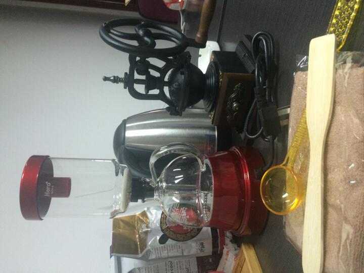 Hero 咖啡壶 电动虹吸壶 家用虹吸式咖啡机套装 手冲耐热玻璃煮咖啡机 炫目红色 晒单图