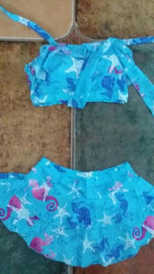 俊飞(junfei) 女式泳衣女裙式分体游泳装保守韩版小胸聚拢可爱泡温泉游泳装蛋糕裙少女 XF2361西瓜红 适合(80-115斤) 晒单图