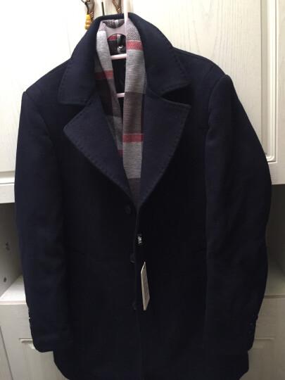 梵太(FANTAI)羊毛呢大衣男士秋冬中长风衣外套 1711/藏蓝 L/175 晒单图