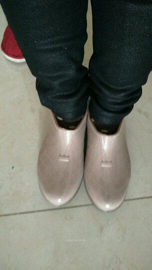 回力雨鞋女雨靴 春季短筒水鞋女士时尚低帮套脚女式厨房防滑防水胶鞋 卡其 37 码偏小一码 晒单图
