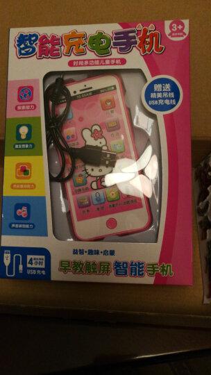 可充电儿童玩具手机触屏音乐婴幼儿早教机益智玩具电话1-3-6岁 充电凯蒂猫手机 晒单图