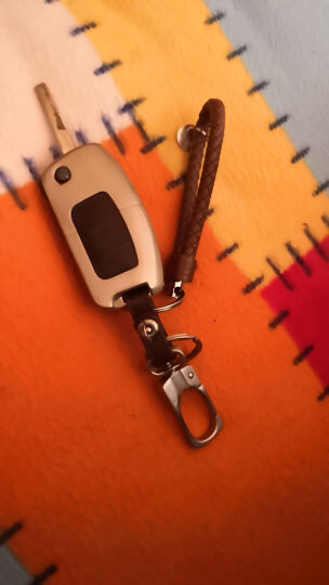 LMA洛玛 福特锐界翼虎翼博撼路者新蒙迪欧嘉年华福克斯专用钥匙包 遥控器钥匙壳钥匙扣皮套 福特经典福克斯 嘉年华 翼博-折叠三键-珍珠棕 锌合金金属钥匙包 汽车用品配件 晒单图