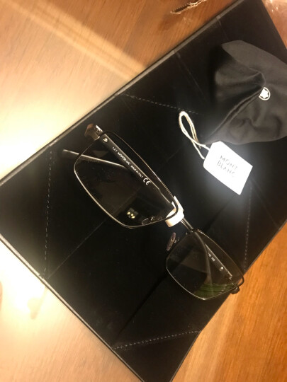 Montblanc 万宝龙 男款枪色全框镜框黑色镜腿光学眼镜架眼镜框 MB 629 014 58mm 晒单图