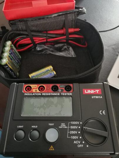优利德 兆欧表绝缘电阻测试仪数字绝缘电阻表摇表 UT501B (电压1000V)吸收比+极化指数 晒单图