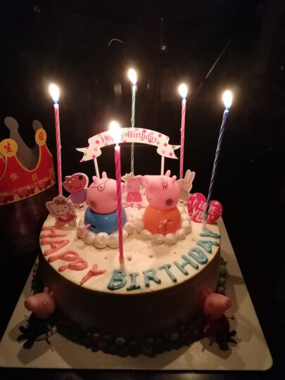61儿童节生日蛋糕卡通同城配送蛋糕女孩男孩宝宝公主佩奇小猪蜘蛛侠预定订做北京上海杭州全国当日送达 天空之城旋转木马蛋糕 8寸(适合3-5人食用) 晒单图