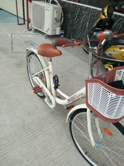 瑞韵 20英寸24英寸26英寸男女式学生款自行车休闲通勤淑女公主轻便复古单车 26英寸旗舰版-米黄色 晒单图