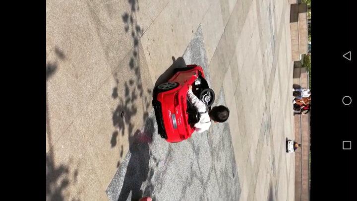 儿童电动车四轮可坐人小孩玩具车儿童汽车带摇摆宝宝童车 白色+大电瓶+音乐早教+遥控摇摆+手推杆+皮座 晒单图