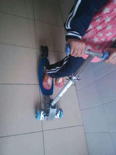 阿奇泽Aqize爬爬虫滑滑车四轮全金属材质加宽踏板滑板车 红色-PP踏板 晒单图
