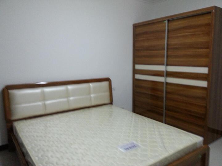 双虎(SUNHOO) 双虎家私 床 板式床 卧室成套家具 1.8米1.5米双人床H2 低箱床+床头柜*2+H1推拉门衣柜+舒梦床垫 1800*2000mm 晒单图