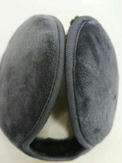 百恩思护耳套 耳朵套 耳包 毛毛绒耳罩 男士冬季后戴式保暖耳捂 黑色加厚方格(送灰色加厚方格) 晒单图
