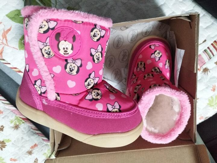 迪士尼(Disney) 童鞋宝宝鞋子雪地靴子短靴男童女童保暖棉鞋软底防滑学步鞋 靴子 XZB40195咖啡 140mm/内长13.5cm 晒单图