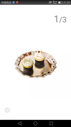 GRAND/高蓝 欧式银器餐具 精致浮雕花朵花纹镀银银色圆型水果点心盘婚礼宴会客厅糖果盘 12寸点心碟 晒单图