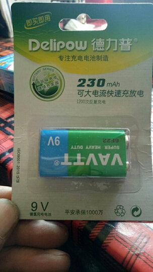 德力普 9V充电电池 大容量9伏9V230MAH无线麦克风充电电池230毫安6F22 2节9V230毫安电池 晒单图