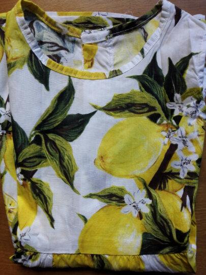 纯棉柠檬新款春夏装女童韩版无袖背心裙儿童连衣裙公主裙童装 白色-西瓜菠萝裙 100cm-适身高95cm左右 晒单图