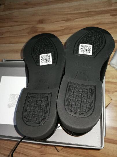 百丽男鞋(Belle)牛皮系带商务正装皮鞋男 婚鞋 布洛克鞋 休闲皮鞋53103AM7 棕色 41 晒单图