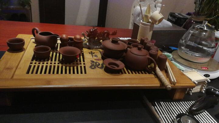 竹咏汇 茶具套装 紫砂功夫茶具整装 茶具陶瓷整套 茶道泡茶壶托盘陶瓷全套茶杯楠竹茶盘 中国龙玲珑兰盖碗茶具套装赠茶桶 晒单图