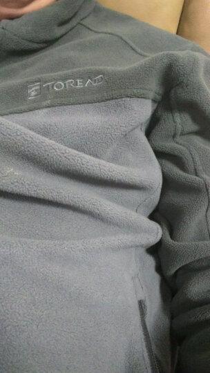 探路者(TOREAD)户外男女情侣保暖抓绒衣KACF91525/92526 桔梗紫/宝石紫-女KACF92526 L 晒单图
