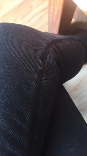娇依靓影 孕妇装春季装2018新款韩版弹力牛仔长裤孕妇托腹裤小脚哈伦裤铅笔孕妇裤 黑色九分裤83# XL 晒单图