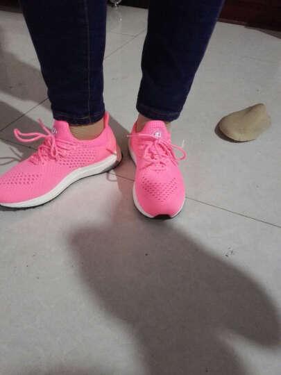 AUMU缓震透气休闲鞋男女情侣款飞织运动跑步鞋子G800 粉红色(偏小,拍大一码) 36 晒单图