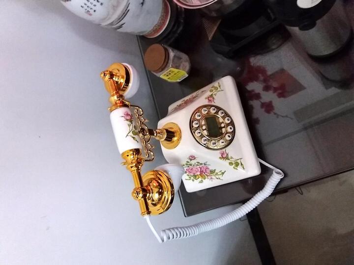 渴望(Crave)F015 复古电话机 仿古电话 固定电话  座机 有绳电话机 陶瓷款 出水芙蓉款 晒单图