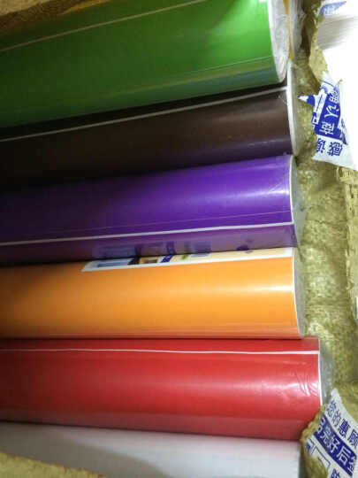 爱花 PVC自粘墙纸客厅卧室背胶壁纸纯色加厚磨砂即时贴家具翻新贴广告割字贴防油刻字贴 5513褐色 亚光面宽45CM*长10米 晒单图