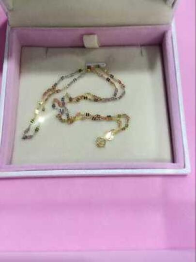和富隆(hafilo) 18k金项链 au750白色黄金项链玫瑰金四叶草彩金项链女款 三色 项链40cm粗约1.8mm 晒单图
