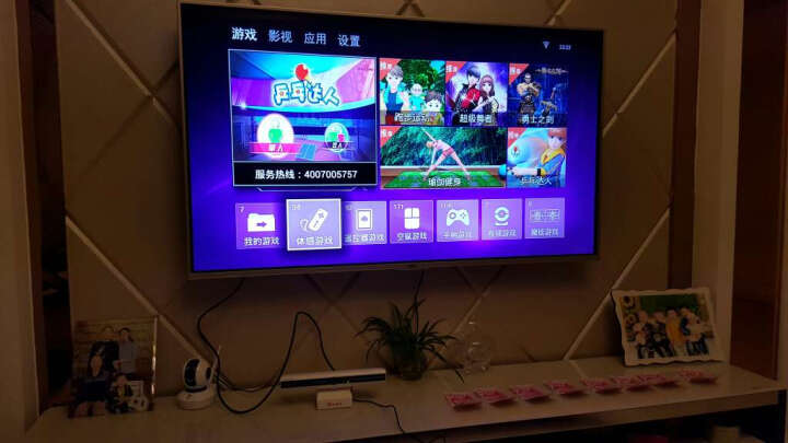 小霸王G80八核智能电视互动体感游戏机 家庭3D游戏机主机 高清网络播放器 双手柄套餐+瑜伽毯 晒单图
