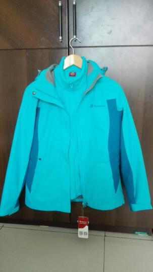 探路者(TOREAD) 男女情侣款冲锋衣 两件套保暖防雨 TAWB92604/91603 秋菊黄 S 晒单图