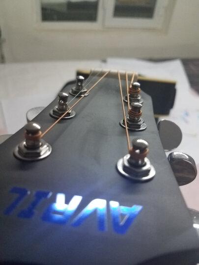 艾薇儿(Avril) 40寸41寸民谣吉他哑光黑色原木色初学者新手入门电箱免费刻字货到付款 40寸原木色电箱 晒单图