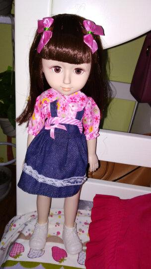 会说话的智能芭芘娃娃套装仿真软胶洋娃娃公主女孩玩具 佳伊【32声版】 身高43cm 晒单图