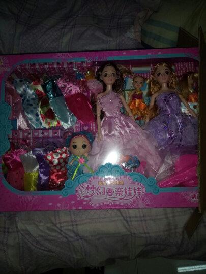 喜迪奇 (XIDIQI)女孩礼物4D真眼公主换装娃娃套装大礼盒儿童女孩玩具过家家换装洋娃 五娃8085-59G粉紫163件套 12关节 晒单图