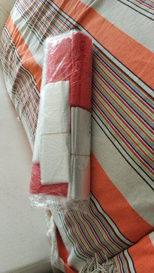 白色透明手提购物塑料袋50个/捆大中小号超市背心饭店打包外卖马甲水果烟酒垃圾袋 红色 宽35CM*长55CM 50个 晒单图