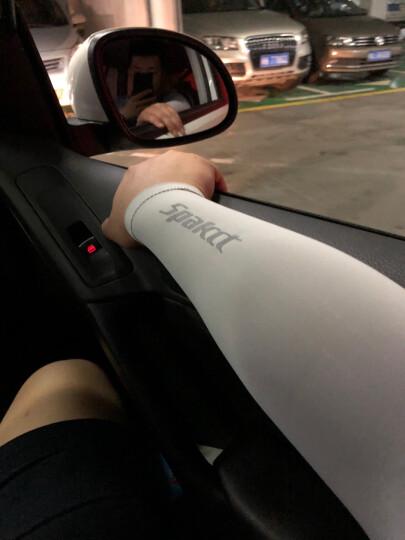 思帕客 Spakct S18A09 防晒袖套 女骑行开车冰丝袖套护手臂套夏男士面料 雪莲白 晒单图