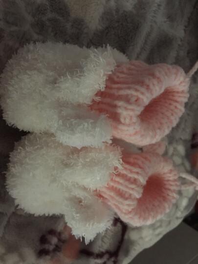 Yamilan 婴儿手工编织鞋 冬季加厚保暖 宝宝毛线鞋袜 可爱地板袜 白色-兔子款 0-12个月/脚长12.5厘米以内 晒单图