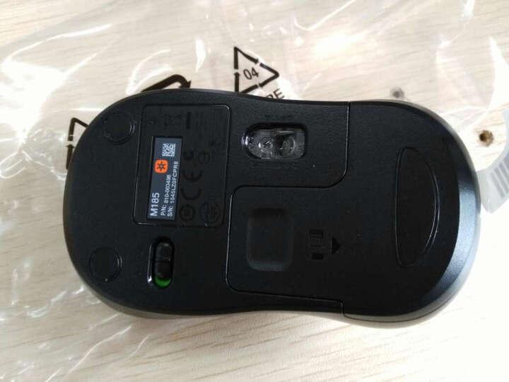 罗技(Logitech)M185(M186)无线鼠标 黑色灰边 晒单图