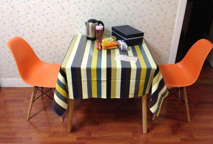 星典伊姆斯靠背塑料电脑洽谈餐椅子咖啡奶茶实木北欧简约会客吧椅办公会议椅 升级款桔色 晒单图