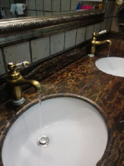 贝尔格兰 仿古水龙头欧式龙头 全铜美式浴室柜台面盆 复古龙头 玫瑰色青花瓷款 晒单图