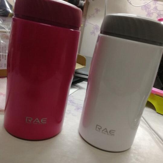 然也(RAE)260ml双层不锈钢保温杯壶泡茶汽车杯子 男女士情侣学生时尚商务车载办公随身水杯 粉色R3059 晒单图