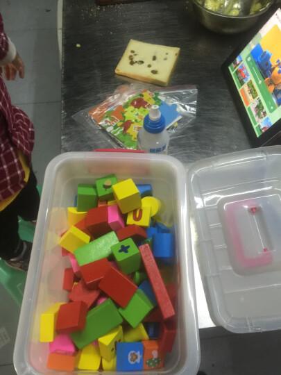 采石儿童木制积木玩具 木质木头拼插拼装大块颗粒168粒带数字字母 婴儿幼儿宝宝启蒙 168粒动物水果(包含拼图) 晒单图