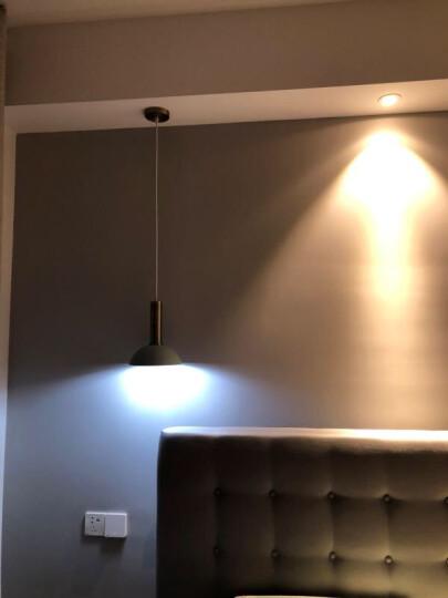 光团精工 费尔姆吊灯 北欧丹麦设计师餐厅吧台卧室床头灯创意个性loft单头马卡龙小吊灯 搭配 长灯头粉色+小半圆浅蓝色 晒单图