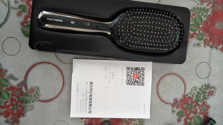 月立(yueli)负离子梳 震动按摩造型梳 顺发梳子 直发器 HIC-202BK 亮黑色 晒单图
