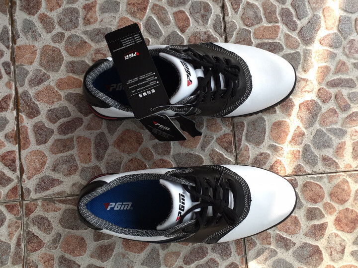 PGM 高尔夫球鞋 男款高尔夫 真皮 防滑透气 39码 晒单图