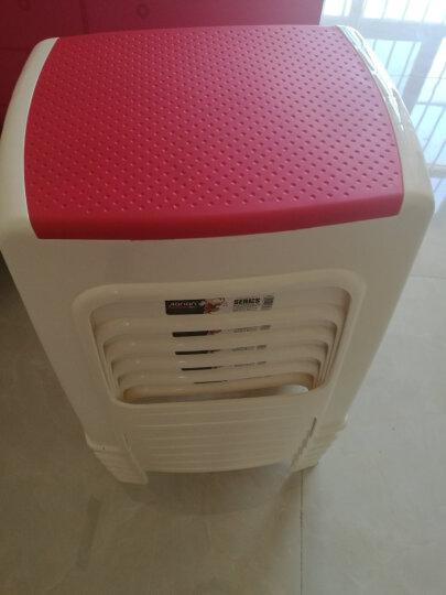 健安 凳子塑料高方凳防滑成人休闲板凳双色椅子大号餐桌凳 红色0832 晒单图