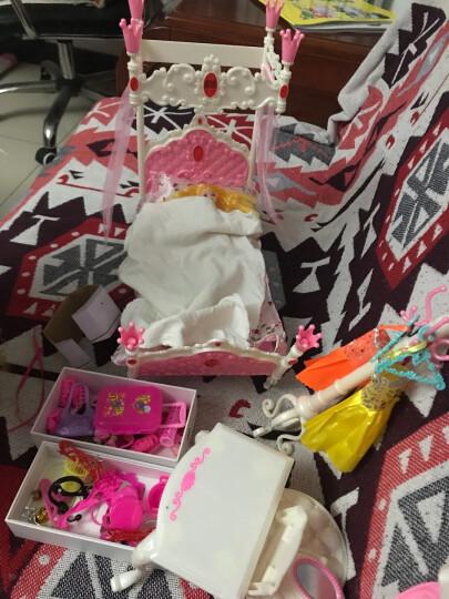 女孩娃娃套装大礼盒玩具屋公主洋娃娃梦想豪宅过家家女孩玩具 1128-8 豪华卧室+梦幻声光衣橱 晒单图