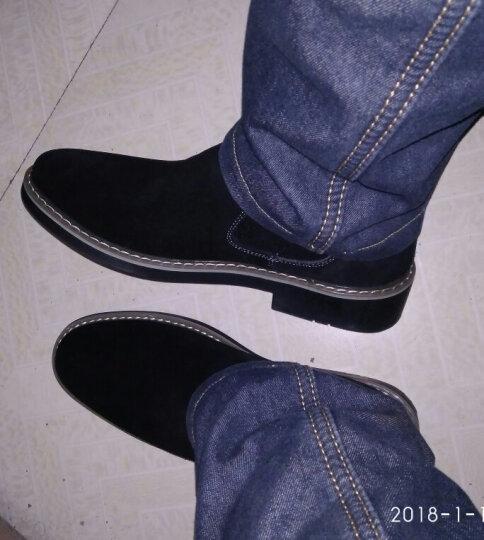 拉蒂公牛 棉鞋男鞋休闲鞋中帮冬季加绒保暖时尚反绒皮商务靴子 灰色(冬款棉鞋) 41 晒单图